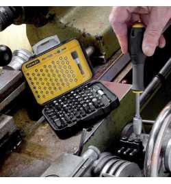 Coffret embouts vis 61 inserts 25 mm + porte-magnetique avec siege rapide 1-13-902 Stanley