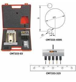 Système universel pour le perçage de charnières CMT333