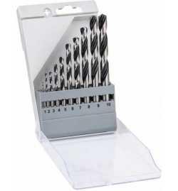 Coffret de forets Bosch Acier 1mm à 10mm, 10 pièces 2608577348