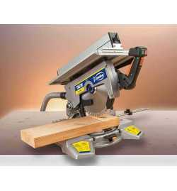 Scie à onglet 305mm inclinable avec table supérieure guidage laser VIRUTEX TM33W