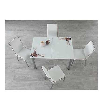 Table réglable Always star avec 6 chaises - Café