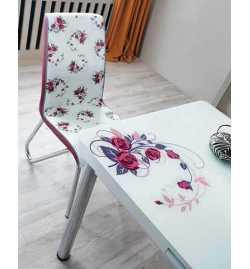 Table réglable Always star avec 6 chaises - Rouge