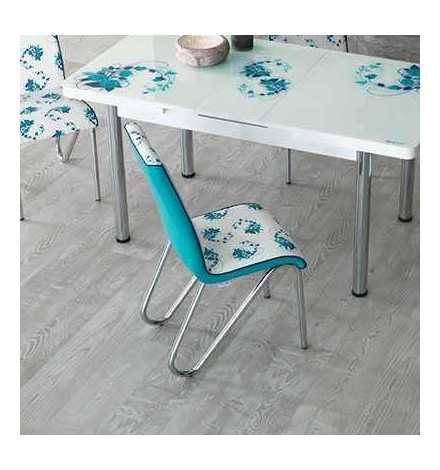 Table réglable Always star avec 6 chaises - Bleu Turquoise