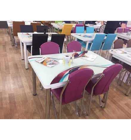 Table réglable Always star avec 6 chaises - M43