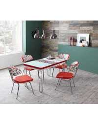 Table réglable Always star avec 6 chaises - smile