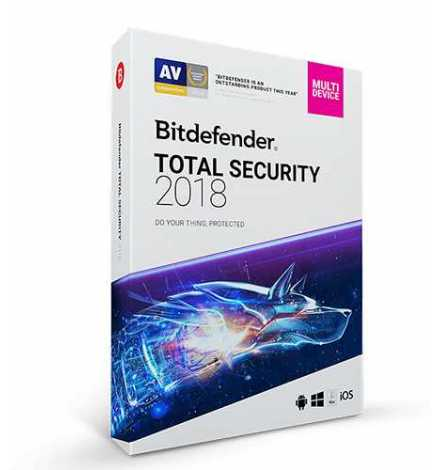 Bitdefender TOTAL SECURITY 2019 ( 5 PC 1 AN )
