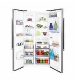 Réfrigérateur américain Side by side silver 630 L - Beko GN163220SX