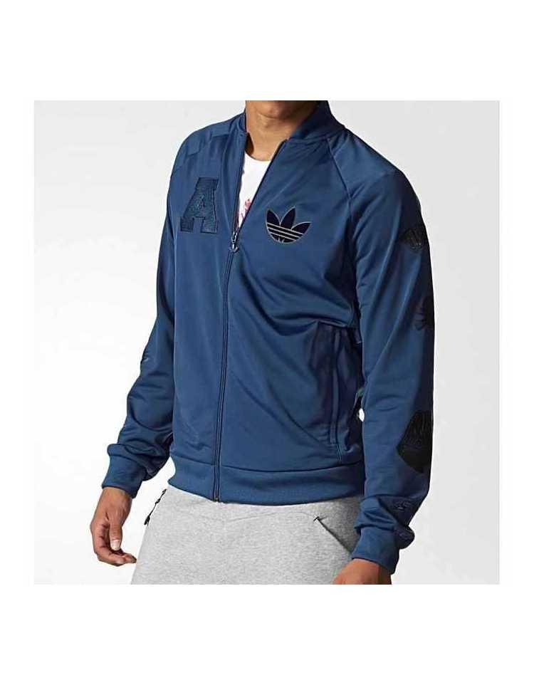 Achat en ligne    Originals Adidas Badge TT Jacket Bleu pour