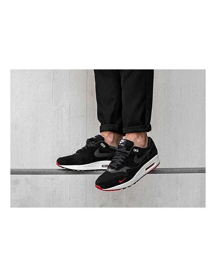 Achat en ligne   Basket Nike Air Max 1 Premium - Noir   Gris   Rouge   en  Tunisie sur dari-shop.tn. 854d1e6ddbe2