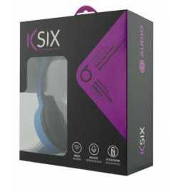 Casque Bluetooth KSix BXAUPBT01AZ Bleu