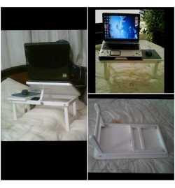 Table Portable De Lit - Pliable Ajustable - En Bois - 60.5*34.5*25